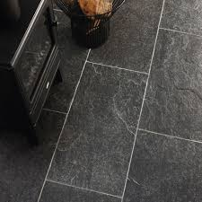Kitchen Tile Flooring Designs by Dark Grey Kitchen Floor Tiles Outofhome