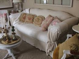 Slipcover For Pillow Back Sofa Shabby Jen No Sew Slip Cover Just In Time For The Holidays