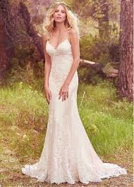spaghetti wedding dress buy discount charming tulle satin spaghetti straps sheath
