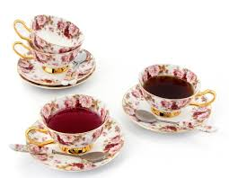 tea cup set porcelain tea cup and saucer coffee cup set white