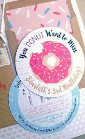 pink sprinkle donut birthday invitation 5x5
