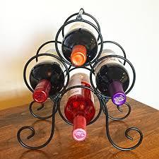 superiore livello roma 4 bottle countertop wine rack free standing