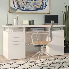 White Computer Desk Brayden Studio 2 Drawer Computer Desk Reviews Wayfair