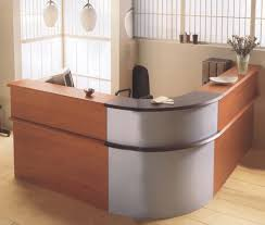Round Reception Desk by Trendy Ombre Grey Half Round Office Desk Aside S Shaped Two Tones