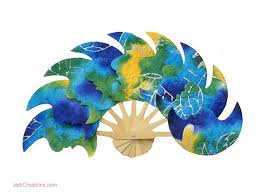 wholesale fans batik shapes saa paper fans manufacturer artisans wholesale