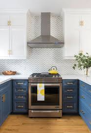 navy blue kitchen cabinets with brass hardware 15 gorgeous blue kitchen designs you ll want to re create