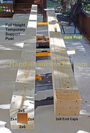 how to replace a 6x6 wood deck post