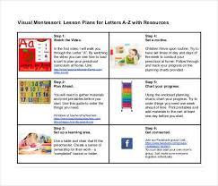printable montessori curriculum lesson plan template 60 free word excel pdf format free