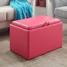 Pink Storage Ottoman Blush Pink Storage Ottoman Wayfair