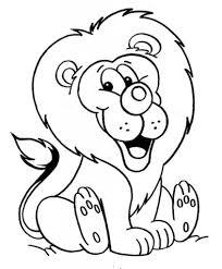 coloring pages lion 4163