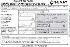 cronograma de sunat 2016 rus guia de pago facil nrus desde enero 2017 tramites sunat