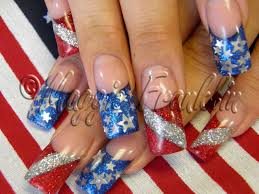 rockstar 4th of july nails artsy nail designs pinterest