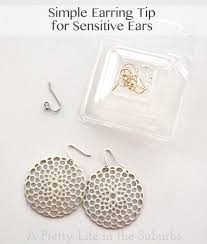 sensitive earrings simple earring tip for sensitive ears a pretty in the suburbs