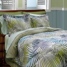 Tropical Bedding Sets Tropical Leaf Tree Pattern Bedding Sets With White Bed Having