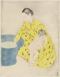 mary cassatt the bath 1890 1891 artsy