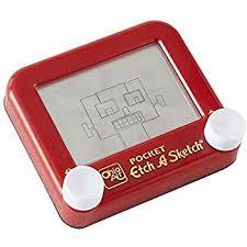 amazon com pocket etch a sketch toys u0026 games