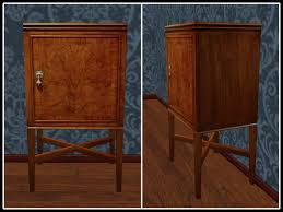 Walnut Cabinet Second Life Marketplace Re Burr Walnut Cabinet Small Vintage