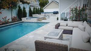 Travertine Patio Long Island Patios Contractors Masonry Designs Driveways Pavers