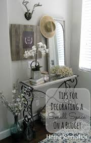 decorating a small space on a budget