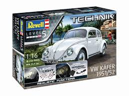 first volkswagen beetle 1938 revell technik 1 16 vw beetle 1951 52 model kit 00450 116 99