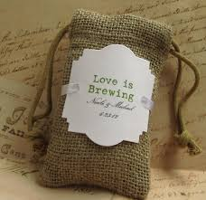 burlap wedding favors 20 burlap wedding favor bags is brewing personalized