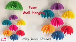 Diwali Decoration Ideas For Home Diy Wall Hanging From Paper Paper Craft Cardboard Craft Home