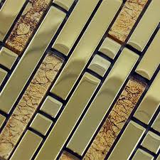 mosaic tile backsplash interlocking stainless steel