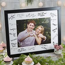 wedding autograph frame personalized 8x10 wedding autograph picture frame wedding gifts