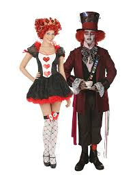 Mad Hatter Halloween Costumes Girls Queen Hearts Costumes Size Child Queen Heart