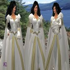 second life marketplace kl arwen white medieval gown bridal
