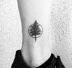 circle small tree tattoos idea golfian com