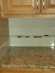 Backsplash Subway Tiles For Kitchen by White Subway Tile With Glass Accent Backsplash Our House