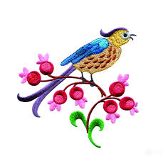 birds paradise jf314 embroidery design