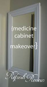 framed bathroom mirror cabinet how to replace medicine cabinet with open shelves home improvement
