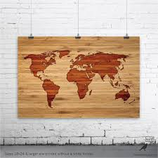 Wooden World Map Wall Art by Furniture U0026 Accessories Wooden Wall Art Decoration Unvarnished