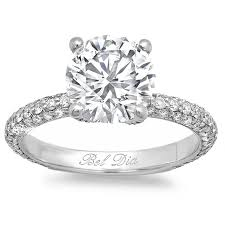 pave engagement rings images 3mm 3 row pave engagement ring jpg