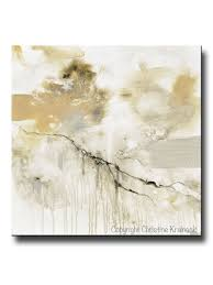 Contemporary Art Home Decor Giclee Print Art Abstract Grey White Painting Coastal Modern