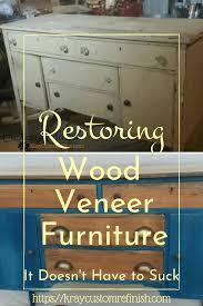 how to wood veneer furniture restoring wood veneer furniture removal repair