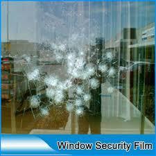 hoho 12mil shatterproof transparent glass film protective window