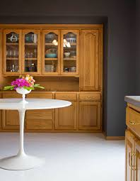how to paint honey oak cabinets white use high contrast paint with the honey oak charcoal gray living