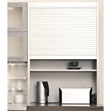 Tambour Door Cabinet Tambour Door Stainless Steel Finish 25 Mm Slats Richelieu Hardware