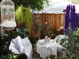 fence decoration ideas with lavender patio shabby chic style and