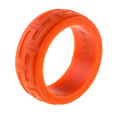 silicone wedding bands 9mm premium heavy duty silicone wedding band burnt orange aztec