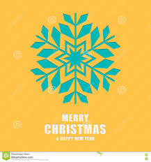 christmas and new year greeting card template snowflakes stock
