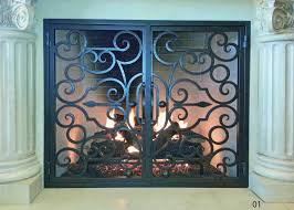 hand forged iron fireplace doors fd001 from mantel depot in san diego