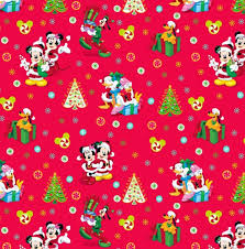mickey mouse christmas wrapping paper 50 best disney fabric images on disney fabric cotton