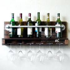 wine rack wood wine glass rack shelf pallets wall wine rack o