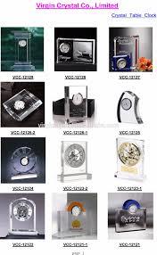vip gift wholesale crystal gold mechanical desk clock buy