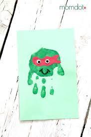 ninja turtle handprint card momdot