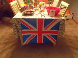 interior design creative british themed party decorations